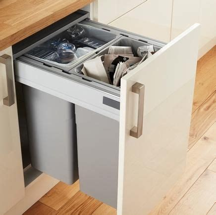 Kitchen Bin Ideas | 64l integrated recycling bin kitchen waste management