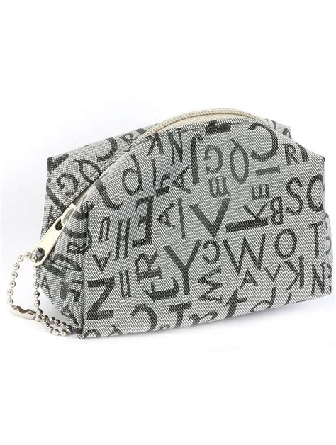 Print Coin Pouch letter print coin pouch gray bags boy