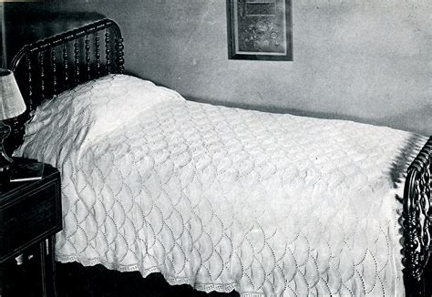 knitted bedspread counterpane knitting vintage crafts and more