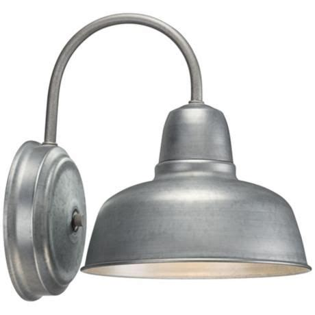 Barn Wall Sconce Barn 11 1 4 Quot High Galvanized Indoor Outdoor Wall Light Medicine Sconces And Barn