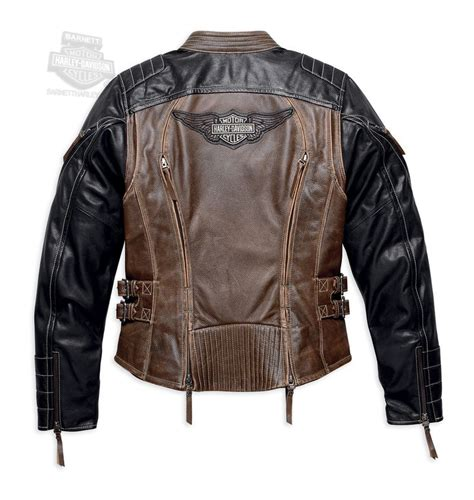Jaket Dc X harley davidson 174 98105 16vw harley davidson 174 womens capitol winged b s vintage brown leather