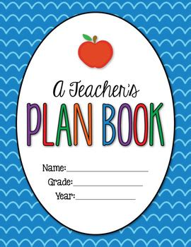 free printable lesson plan cover page a teacher s plan book editable by the teacher wife tpt