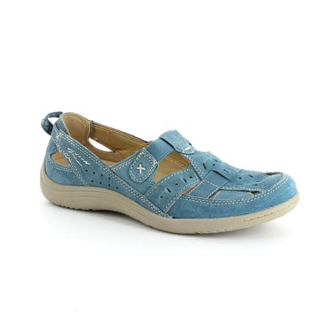 earth spirit shoes earth spirit 00195 08 blue comfort shoes