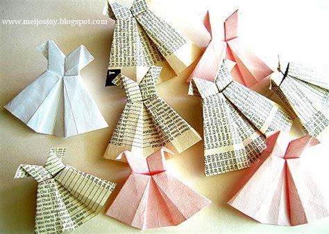 How To Fold A Paper Dress - tween oragami dresses diy for