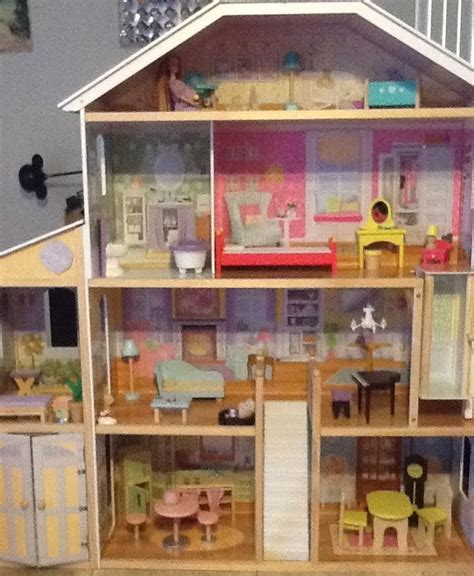 barbie sized doll house tour review of mansion barbie size dollhouse youtube
