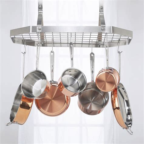 Kitchen Hanging Pot Racks cuisinart octagonal hanging rack pot racks at hayneedle