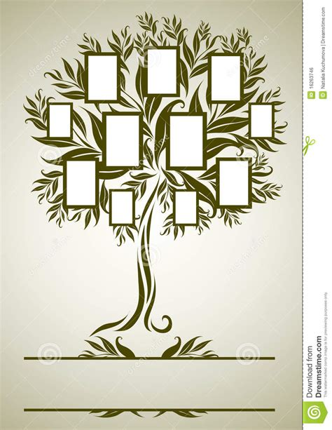 Vector Family Tree Design With Frames Stock Vector Illustration Of Elements Design 16263746 Vintage Family Tree Royalty Free Stock Images Image 32018779