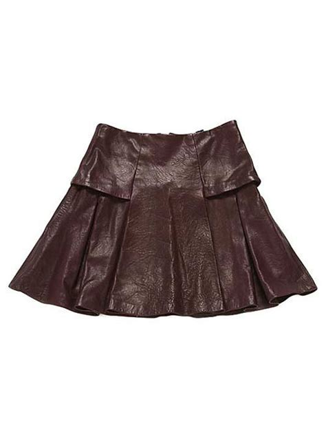 box pleat leather skirt 159 leathercult leather