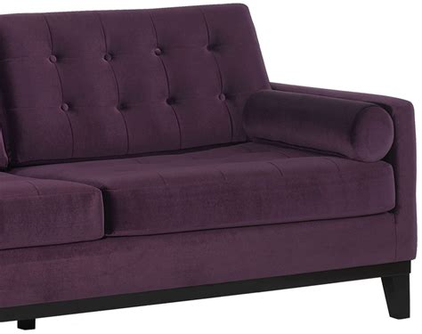 purple velvet loveseat centennial purple velvet sofa lc7253pu armen living