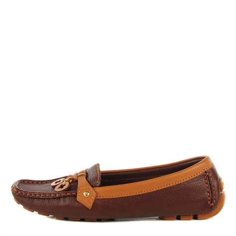 louis vuitton brown loafers louis vuitton calfskin oxford loafers 36 brown 119068