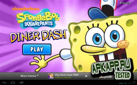 spongebob diner dash apk version spongebob diner dash v3 25 3 android скачать