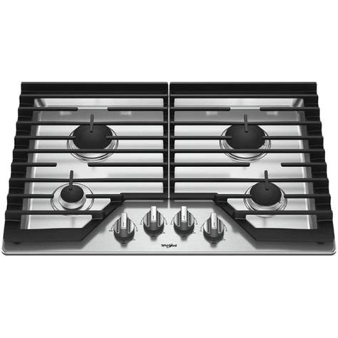 whirlpool gas cooktop 30 whirlpool 30 quot gas cooktop stainless steel wcg55us0hs