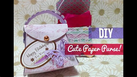 How To Make Paper Purses Crafts - how to make a paper purse template included my