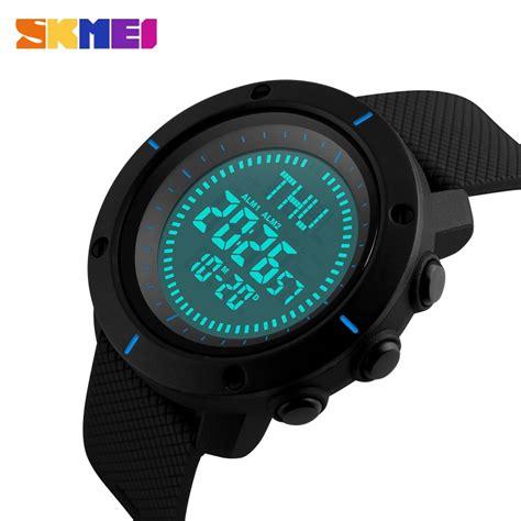 Murah Jam Tangan Pria Skmei Solar Sport Led Water Resist 50m Dg1126 skmei jam tangan digital pria dg1216cm blue jakartanotebook