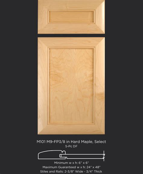 maple cabinet door style with flat panel and bead inside