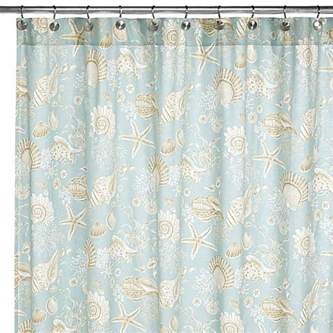 natural shells shower curtain natural shells fabric shower curtain bed bath beyond