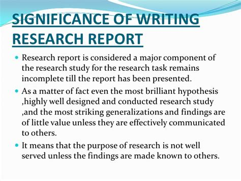 describe briefly the layout of a research report focusing on important points research methodology 2