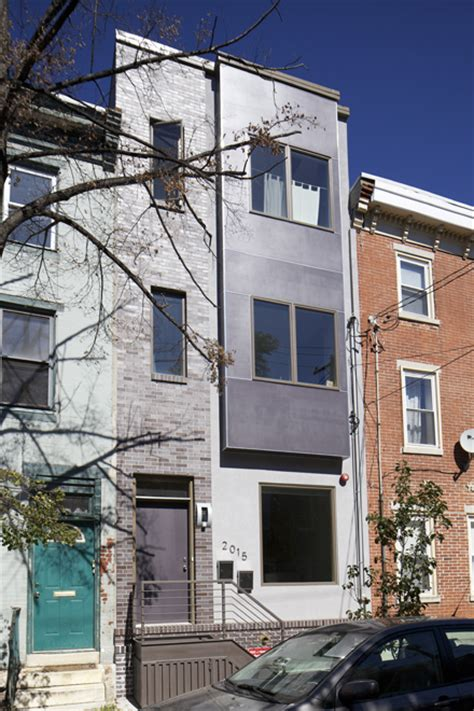 field guide to new row house construction part one grad hospital contemporary row house architecture hidden