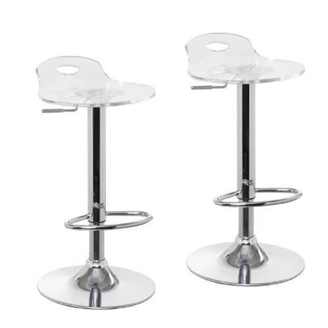 Clear Adjustable Bar Stools by Adjustable Clear Bar Stools Pack Of 2 Oxygen Bar