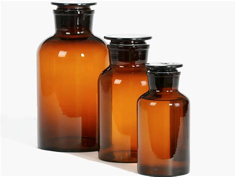 Botol Reagen 500ml Laboratory Reagent Bottles Glass Medicine Bottle