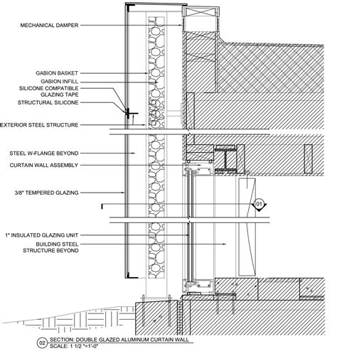 net section glass curtain wall construction details memsaheb net