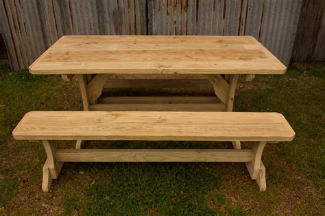 trestle table with benches trestle patio table w 2 benches