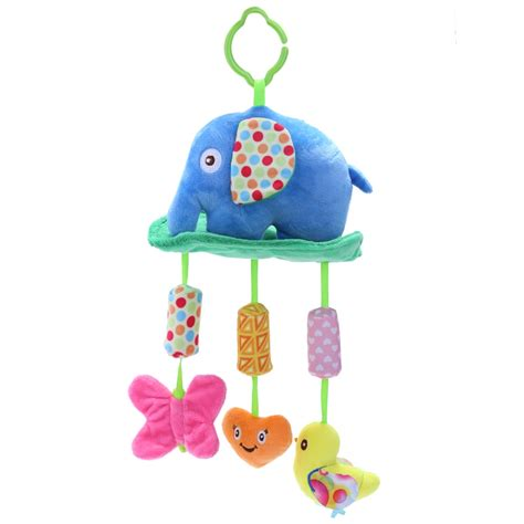 baby colorful lovely baby crib animal plush hanging bed