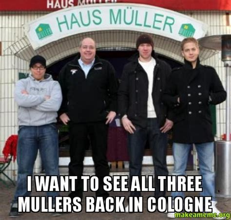 i want to see the shingled back of short hairstyles i want to see all three mullers back in cologne make a meme