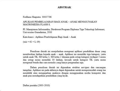 cara membuat abstrak bahasa indonesia abstrak daftar pustaka noname zone