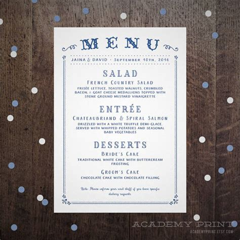 63 Wedding Card Templates Free Premium Templates Buffet Menu Cards