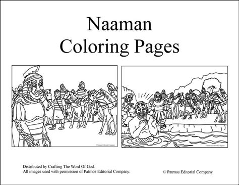 free bible coloring pages naaman naaman coloring pages
