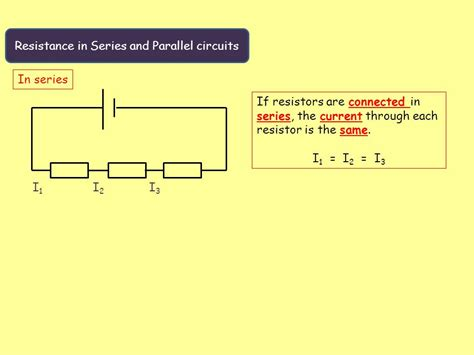 resistors in series and parallel current physics electric circuits ppt