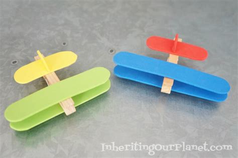Buku Most Wanted Leader airplane clothespin craft inheriting our planet
