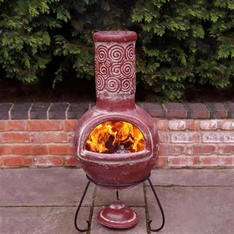 Fireplace Clay by Charming Design Chiminea Clay Outdoor Fireplace Portable