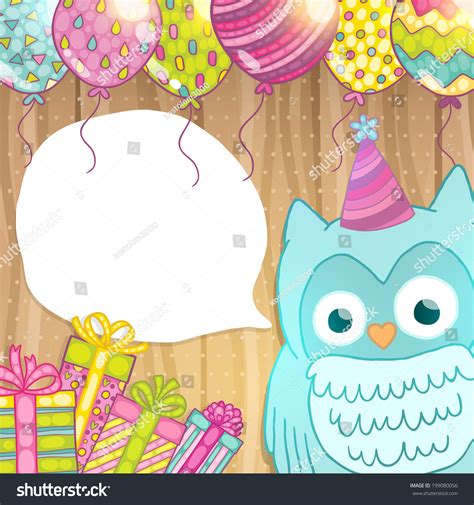 greeting card template with cute owl vector free download birthday card background gangcraft net