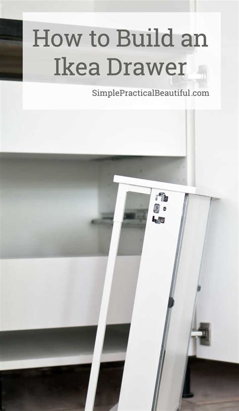 how to assemble an sektion drawer simple practical