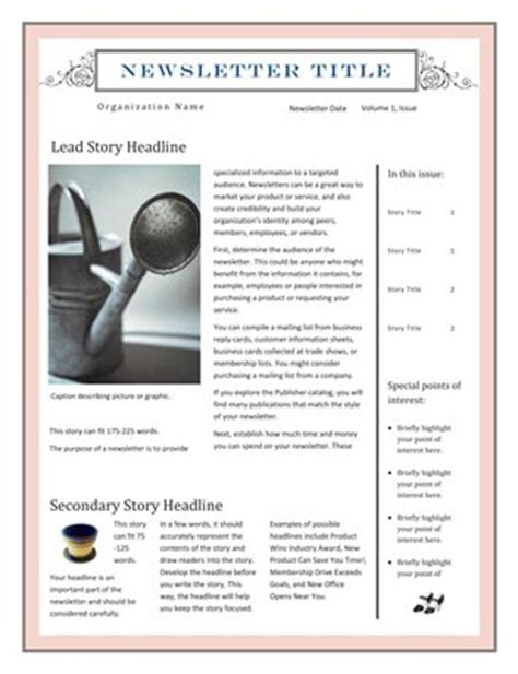Newsletter Magcloud Microsoft Publisher Newsletter Templates Free