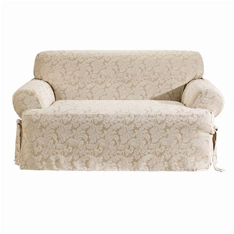 two piece sofa slipcover sure fit t cushion sofa slipcover home design ideas and