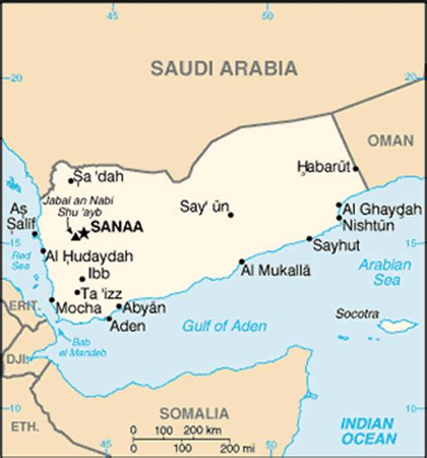 middle east map gulf of aden travelblog 187 map of yemen