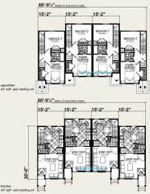 Three Plex Floor Plans by Four Plex Building Plans House Design