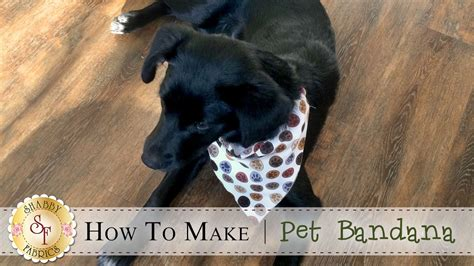 how to make a pet bandana a shabby fabrics sewing tutorial youtube