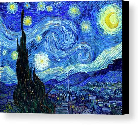 acrylic paint gogh gogh starry canvas print canvas by vincent