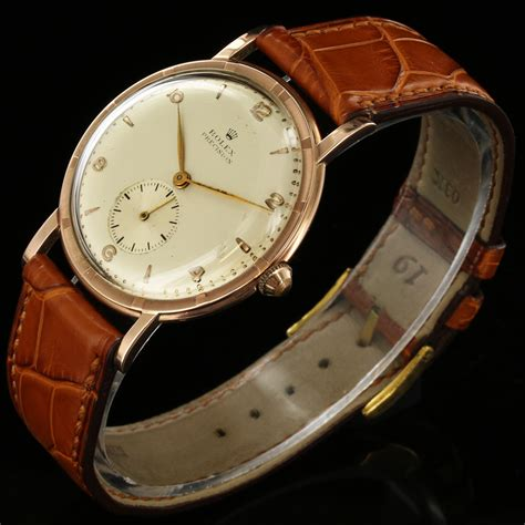 vintage rolex precision steel gold plated