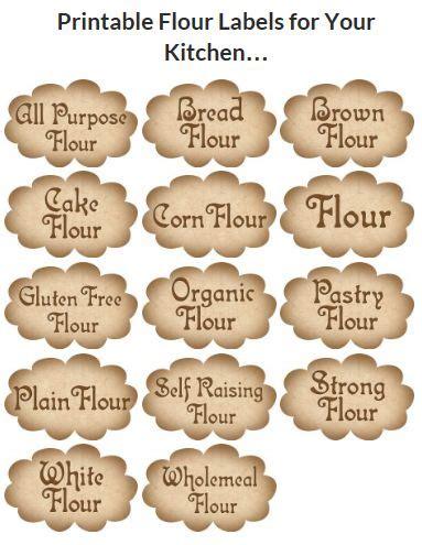 Kitchen Labels Uk 664 Best Kitchen Printables Images On Tags