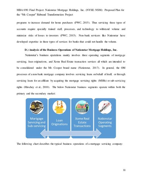 Mba In Banks 2015 by Mba 690 Project Nationstar Mr Cooper Project