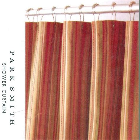 kohls fabric shower curtains kohl s newport stripe rust brown gold fabric shower curtain