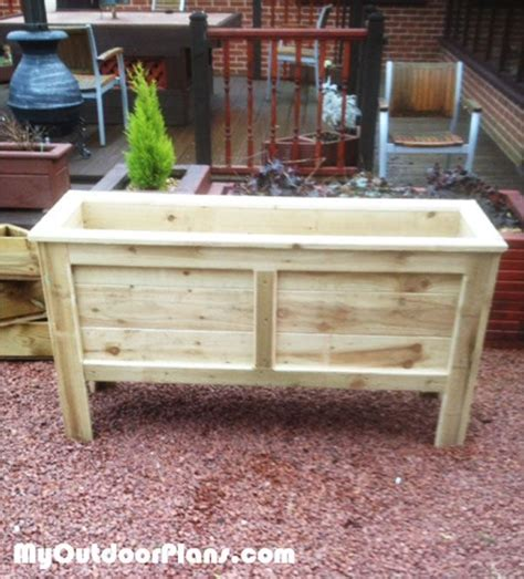 Large Planter Box Plans by Diy Rectangular Planter Box Planter Box Plans