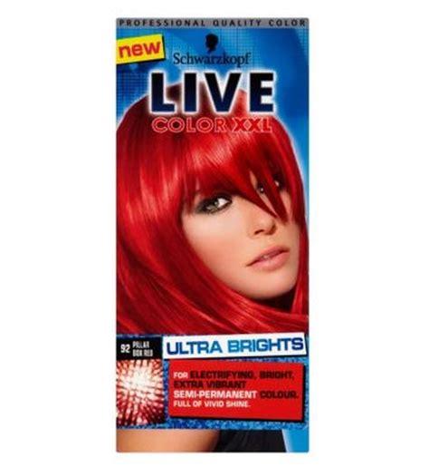 Schwarzkopf Live Hair Color schwarzkopf live color 92 pillar box semi