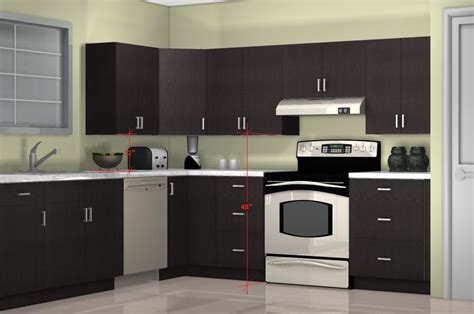 wall of kitchen cabinets what is the optimal kitchen wall cabinet height
