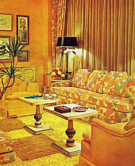 1970s home decor 1971 sunny living room design 1970s home decor